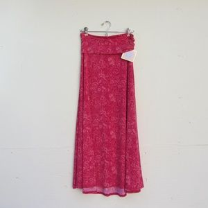 LuLaRoe Red Floral Maxi Skirt